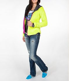 BKE Sport Contrast Neon Active Jacket #buckle #fashion www.buckle.com