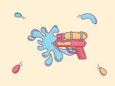 Pichkari ( Water Gun ) designed by sandeep virk. Connect with them on Dribbble; Cartoon Drawings, Character Design, Water Illustration, Children Illustration, Cartoon Design, Cartoon Photo, Cute Drawings, Creative Illustration, Thai Art