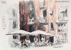 Urban Sketchers Spain. El mundo dibujo a dibujo.: 40 th. sketchcrawl de Barcelona