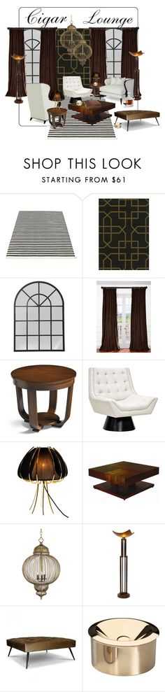 """The Cigar Lounge..."" by gloriettequartet ❤ liked on Polyvore featuring interior, interiors, interior design, home, home decor, interior decorating, Pappelina, SANDERSON, Brucs and CreativeMary"