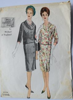 Hey, I found this really awesome Etsy listing at https://www.etsy.com/listing/231009283/vintage-1950s-vogue-couturier-design