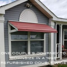 Such an inspiration! Mobile Home Living, Home And Living, Journey Live, Mobile Home Makeovers, Big Project, Curb Appeal, Floor Plans, Couples, Outdoor Decor