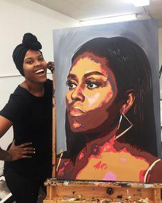 Black Art Painting, Black Artwork, African American Art, African Art, Black Female Artists, Arte Black, Black Art Pictures, Afro Art, Magic Art