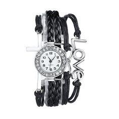 3 Set of Fahion Antique Silver Infinity Love Charm Bracelet Bangle wacth Fiiliip(Mix Color): Watches Bangle Bracelets, Bangles, Infinity Love, Love Charms, Wrist Watches, Color Mixing, Antique Silver, Charmed, Female