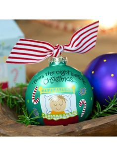 $13.75 4.5 'Twas the Night Before Christmas Ball Ornament