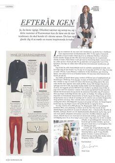 Julie Fagerholt / Heartmade AW13 Jacket in the Danish Magazine Eurowoman