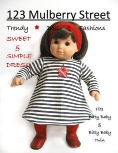 123 Mulberry Street sweet & simple dress pattern $3.99