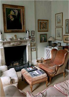 Renaissance London Antique Fireplace. Derry Moore's House
