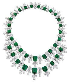 Gatsby Emerald & Diamond Necklace