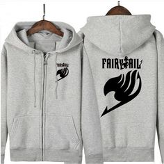 Camplayco Fairy Tail Logo Cosplay Gray Hoodies Warm Coat Size XXL ** More info could be found at the image url.