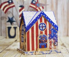 Kathy's adorable patriotic themed take on our Keeper's Quarters from the Seaside SVG Kit