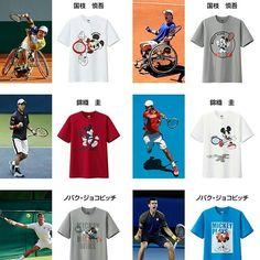 錦織モデルが大人気!!ユニクロ✕ミッキー✕アスリート!最強かわいいTシャツをゲットしよう!