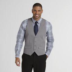 Structure Mens Suit Vest Light Ash- Ideal vest for Great Gatsby or 1920's Clothing http://www.vintagedancer.com/1920s/1920s-style-mens-vests/