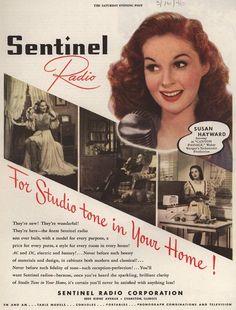 Sentinel Radio For Studio tone in Your Home!   1946