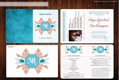 Passport booklet Save-The-Date perfect for the destination wedding.