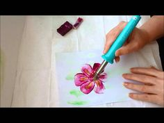 Painting Flowers Art In Wax