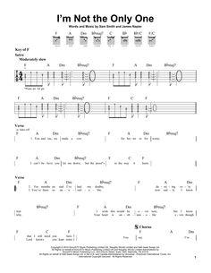 Sam Smith: I'm Not The Only One - Partition Tablature Guitare - Plus de 70.000 partitions à imprimer !