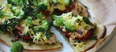 Broccoli Chick'n Kale Pesto Cauliflower Crust Pizza | Follow Your Heart