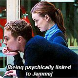 being psychically linked to Jemma || Jemma Simmons, Leo Fitz || AOS 1x09 Repairs || 160px × 160px || #animated #fitzsimmons