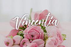 Vincentia Handstylish Font (10% OFF) by Alif Devan R. on @creativemarket