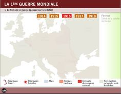Carte interactive- 1re guerre mondiale
