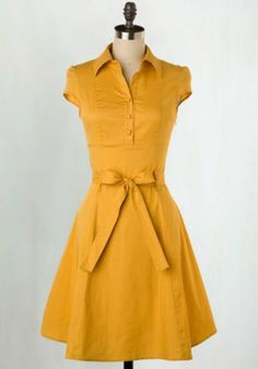 Here are the 10 most flattering summer dresses for your #LaborDay party: Let your body breathe in a cotton, A-line style with a matching sash to nip in your middle.  Soda Fountain Dress in Ginger, $54.99; ModCloth.com