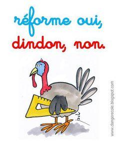 """LES DINDONS PRENNENT LA PAROLE !!! Blog """"Refondation de l'école""""... PARTAGEZ SVP !"""