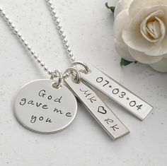 God gave me you  Personalized hand stamped by divinestampings, $43.00