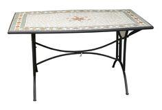 Tavolo fisso in ferro con piano a mosaico: Amazon.it: Giardino e giardinaggio