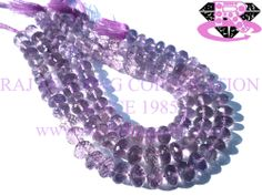 Pink Amethyst Faceted Roundel (Quality A+) Shape: Roundel Faceted Length: 18 cm Weight Approx: 14 to 16 Grms. Size Approx: 7 to 8.50 mm Price $18.20 Each Strand