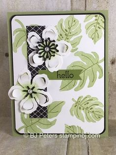 Love the green and black combo - something a little different with the have to have Botanical Garden bundle.