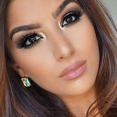 Heiße braune Smokey Eye Make-up Ideen - Makeup - Gorgeous Makeup, Pretty Makeup, Love Makeup, Makeup Inspo, Makeup Inspiration, Neutral Makeup, Glam Makeup, Makeup Light, Dramatic Makeup