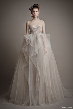 Ersa Atelier Spring 2015 #bridal collection: Ang Mey strapless ball gown #wedding dress #weddingdress #weddinggown