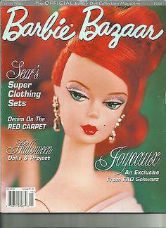Barbie Bazaar Magazines Barber Bazaar magazines you can not get these anymore. You get three magazines June 2003 vol 15 issue June 2003 Vol Barbie Halloween, Halloween Cards, Halloween Dress, Black Pokemon, Barbie Skipper, African American Dolls, Barbie Patterns, Vintage Barbie Dolls, Collector Dolls