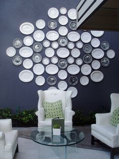 Decorative plates. Absolute stunning wall gallery. For indoor or outdoor decor