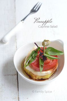Take a bite out of summer with this tropical twist on this Italian classic, the Pineapple Caprese Salad.
