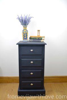 Dark Beauty - Plain Bedside Cabinet Makeover - Fro…