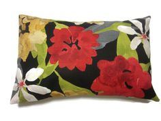 Decorative Pillow Cover Multicolored Floral by LynnesThisandThat