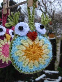 Easy Crochet Owls FREE Pattern - ik blijf GEK op uiltjes ;-D