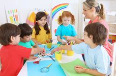 NAMC montessori classroom character education ideas children painting together Kids Daycare, Home Daycare, Daycare Ideas, Reggio Emilia, Early Childhood Education Programs, Starting A Daycare, Family Day Care, Montessori Classroom, Montessori Education