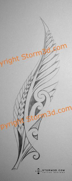 Tattoo Blog: Maori fern tattoo with koru swirls