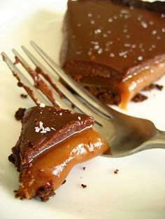 Chocolate caramel pie - so terrible for you but Mark's mom requested a chocolate dessert and boy does this look good