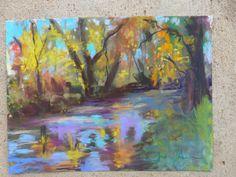 Autumn Stream Colorado 9x12 pastel painting by TracyHainesFineArt