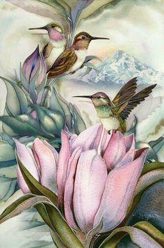 Hummingbird tulips