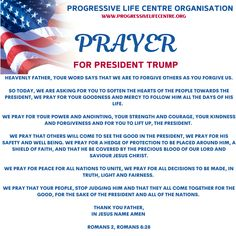 Prayer for President Trump : Join us in prayer for President Trump who is facing many trials right now. Prayer For The Nation, Prayer For Family, Christian Devotions, Christian Life, Christian Quotes, Prayers For America, Faith Sayings, Spiritual Warfare Prayers, Pray For Trump