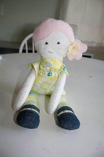 I am so crafty, I sweat glitter: Miss M's birthday doll and a pattern