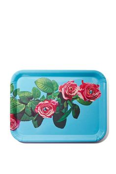 Seletti Wears Toiletpaper Tray - Roses   Seletti Wears Toiletpaper ranges from whimsical, to raunchy, to surreal-- it's just overall badass. This turquoise tray has a rose print with eyes and a white back.