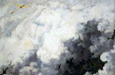 André Devambez The Only Bird That Flies above the Clouds 1910 / Oil on canvas August Sander, Albert Bierstadt, Alphonse Mucha, Above The Clouds, Grand Palais, Sketchbook Inspiration, Website Design Inspiration, French Art, Artistic Photography