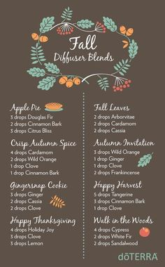 doTERRA Diffuser Blends for Essential Oils ~Family Food Garden Best smelling essential oils for diffuser. Here are some great essential oil blends to enjoy. These doTERRA diffuser blends help you blend oils Fall Essential Oils, Essential Oil Diffuser Blends, Essential Oil Uses, Young Living Essential Oils, Essential Oil Christmas Blend, Diffuser Recipes, The Best, Diffusers, Remedies