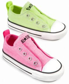 ' Converse Kids Shoes, Little Girls Chuck Taylor All Star Simple Slip Neon Sneakers '